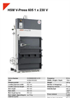 HSM V-Press 605 1 x 230 V Vertical Baling Presses - Datasheet