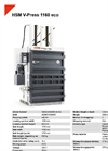 HSM V-Press 504 Vertical Baling Presses / Vertical Balers - Datasheet