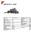 HSM VK 6215 - 45 kW Compacting Channel Baling Presses - Datasheet
