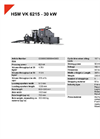 HSM VK 6215 - 30 kW Compacting Channel Baling Presses - Datasheet