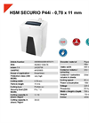 HSM SECURIO P44i 0,78 x 11 mm Document Shredder - Datasheet
