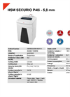 HSM SECURIO P40i - 5,8 mm Document Shredder - Datasheet