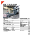 HSM VK 6015 - 30 kW Compacting Channel Baling Presses - Datasheet