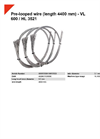 HSM VL 600 / HL 3521 Pre-Looped Wire (Length 4400 mm) - Datasheet