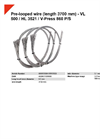 HSM VL 500 / HL 3521 / V-Press 860 P/S Pre-Looped Wire (Length 3700 mm) - Datasheet
