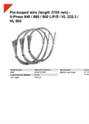 HSM V-Press 840 / 860 / 860 L/P/S / VL 225.3 / VL 500 Pre-Looped Wire (Length 3700 mm) - Datasheet