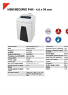 HSM SECURIO P40i - 4,5 x 30 mm Document Shredder - Datasheet
