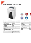 HSM SECURIO P40i - 3,9 mm Document Shredder - Datasheet