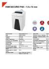 HSM SECURIO P40i - 1,9 x 15 mm Document Shredder - Datasheet