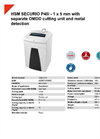 HSM SECURIO P40i - 1 x 5 mm with Separate OMDD Cutting Unit and Metal Detection Document Shredder - Datasheet