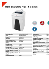 HSM SECURIO P40i - 1 x 5 mm Document Shredders Document Shredder - Datasheet