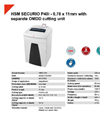 HSM SECURIO P40i - 0,78 x 11mm with Separate OMDD Cutting Unit Document Shredder - Datasheet
