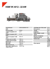 HSM VK 5012 - 22 kW Compacting Channel Baling Presses - Datasheet
