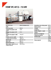 HSM VK 4012 - 15 kW Compacting Channel Baling Presses - Datasheet