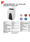 HSM SECURIO P36i - 4,5 x 30 mm with Separate CD Cutting Unit Document Shredder - Datasheet