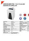 HSM SECURIO P36i - 1,9 x 15 mm with Separate CD Cutting Unit Document Shredder - Datasheet