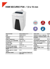 HSM SECURIO P36i - 1,9 x 15 mm Document Shredder - Datasheet