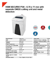 HSM SECURIO P36i - 0,78 x 11 mm with Separate OMDD Cutting Unit and Metal Detection Document Shredder - Datasheet