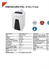 HSM SECURIO P36i - 0,78 x 11 mm Document Shredder - Datasheet