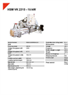 HSM VK 2310 - 15 kW Compacting Channel Baling Presses - Datasheet