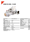 HSM VK 2306 - 15 kW Compacting Channel Baling Presses - Datasheet