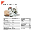 HSM VK 1206 - 9,2 kW Compacting Channel Baling Presses - Datasheet