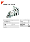 HSM VK 1005 - 7,5 kW Compacting Channel Baling Presses - Datasheet