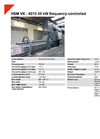 HSM VK - 6015 55 kW Frequency-Controlled Compacting Channel Baling Presses - Datasheet