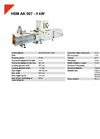 HSM AK 807 - 4 kW Compacting Channel Baling Presses - Datasheet