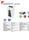 HSM SECURIO C18 - 3,9 x 30 mm Document Shredder - Datasheet