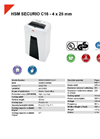 HSM SECURIO C16 - 4 x 25 mm Document Shredder - Datasheet