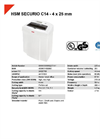 HSM SECURIO C14 - 4 x 25 mm Document Shredder - Datasheet