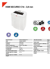 HSM SECURIO C14 - 3,9 mm Document Shredder - Datasheet