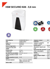 HSM SECURIO B26 - 5,8 mm Document Shredder - Datasheet