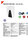 HSM SECURIO B26 - 4,5 x 30 mm Document Shredder - Datasheet