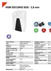 HSM SECURIO B26 - 3,9 mm Document Shredder - Datasheet