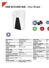HSM SECURIO B26 - 1,9 x 15 mm Document Shredder - Datasheet