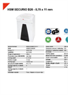 HSM SECURIO B26 - 0,78 x 11 mm Document Shredder - Datasheet