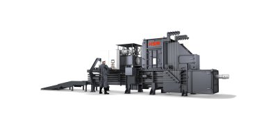 HSM - Model VK 6215 - 55 kW - Frequency-Controlled Channel Baling Presses / Channel Balers