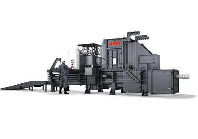 HSM - Model VK 6215 - 30 kW Compacting Channel Baling Presses