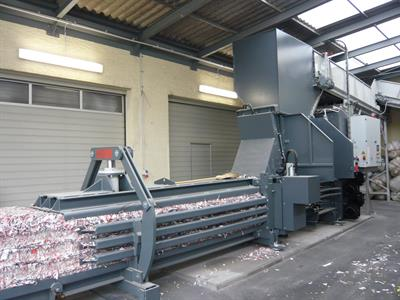 HSM - Model VK 6015 - 45 kW Frequency-Controlled Compacting Channel Baling Presses