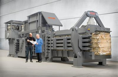 HSM - Model VK 15020 - 45+45 kW Frequency-Controlled Compacting Channel Baling Presses