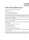 Expel EKO 3D Bird Barrier Brochure