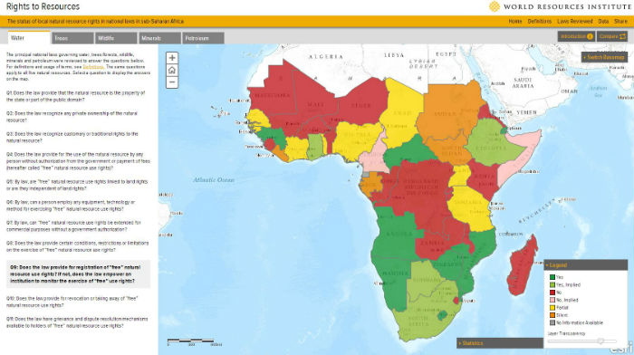 New Map Documents Natural Resource Rights in Sub-Saharan Africa