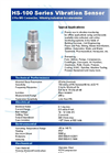 Model 2 Pin MS - Connector Industrial Accelerometer Brochure