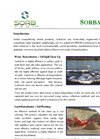 SorbaSolv - Custom Booms, Oil Sorbent Application Sheet