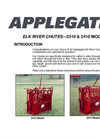 Elk River Chutes (2510 & 2410 Models) Operation Manual