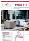 Rheo - Model F4 - Analyzer- Brochure