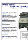 Garratt PF 216 Air Screen Brochure