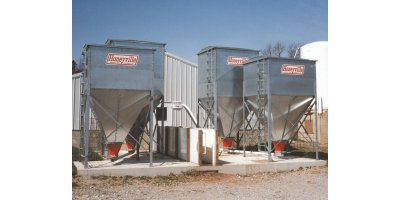 Square Bulk Feed Bins